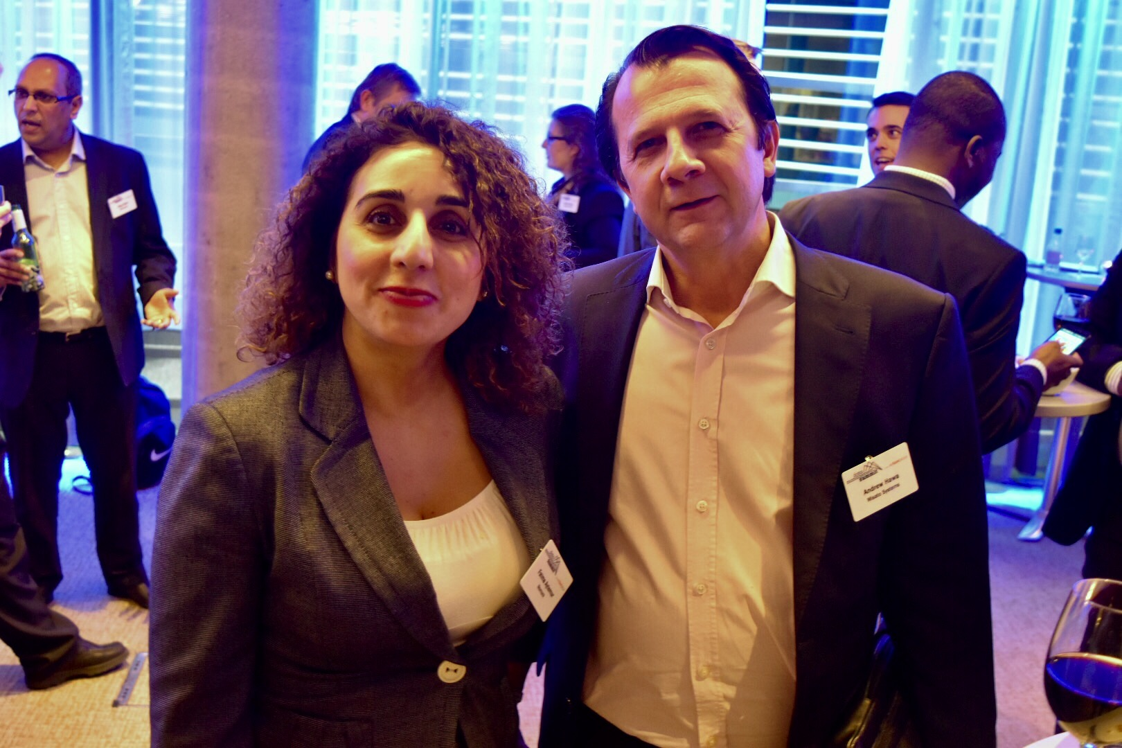 Fatma Aytemur of Nomura and Andrew Hawa of Misato systems