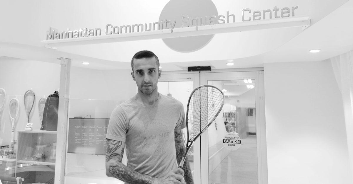 Naj Alavi at the Manhattan Community Squash Center